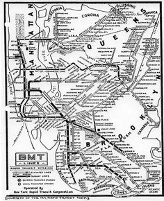 1933 BMT Subway Map