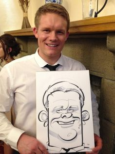 All day wedding package, drawing caricatures in the Lake District, by the wedding artist