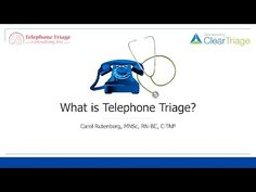 Carol Rutenberg, MNSc, RN-BC, C-TNP shares her insights on the definition and importance of nurse telephone triage. Triage Nursing, What Is Nursing, Telephone, Nurses, Insight, Youtube, Phone, Being A Nurse, Youtubers