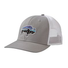 e720085ae4d34 Patagonia Fitz Roy Bison Trucker Hat in Drifter Grey