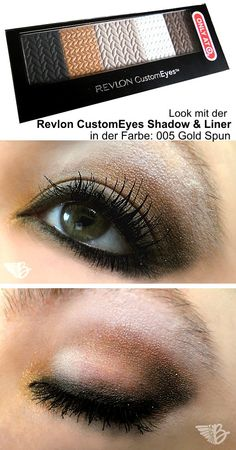 """Augenmakeup mit der #Revlon Custom Eyes Palette in der Farbe 005 """"Gold Spun"""""""