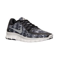 Women's Nike Free 5.0 V4 Print Running Shoes ($100) ❤ liked on Polyvore