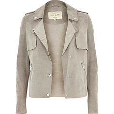 Light grey suede trench jacket £150.00