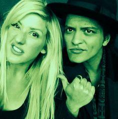 Ellie Goulding and Bruno Mars :)