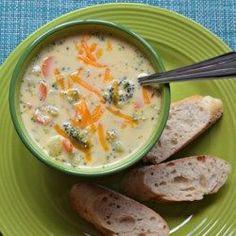 Sandys Homemade Broccoli and Cheddar Soup - Allrecipes.com