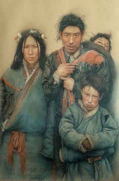 Tibetan family by *william690c on deviantART