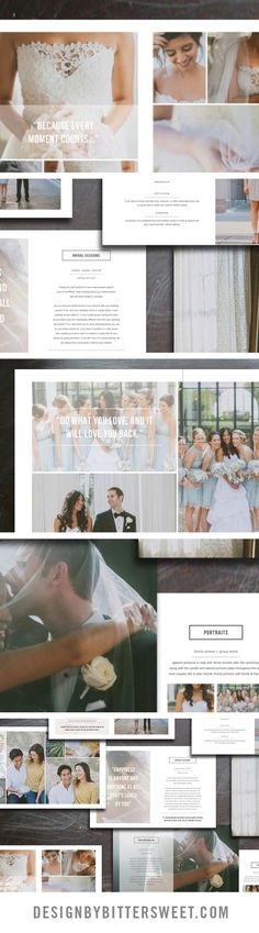Use our new client studio welcome packet to book your new couples. 32 page customizable magazine template. *images courtesy of Day 7 Photography