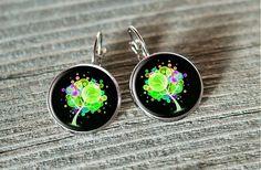 Mourek / farebný strom Stud Earrings, Handmade, Jewelry, Earrings, Hand Made, Jewlery, Jewels, Stud Earring, Craft