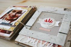 Quand Prisca mixe le DIY avec le scrap, ça donne un mini-album cadre ! Voici un mini album simple et rapide à faire mais qui nécessite un peu de couture… Today Prisca is mixing DIY with Scrap…
