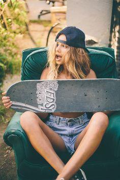 Sahara Ray #skategirl #tomboy #california style
