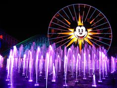 An Array of Mulicolor Fountains, World of Color, Disneyland Resort Disneyland Photos, Disneyland Resort, Disney Destinations, See World, Disney California Adventure, World Of Color, Disney Parks, Wonders Of The World, Ferris Wheel