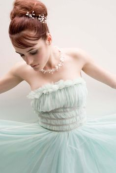 Mint Tulle Dress by Samuelle