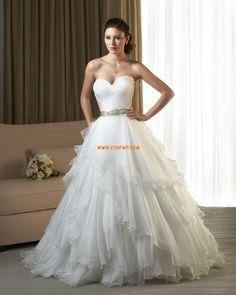 Vår 2014 Sommar Skiktad Bröllopsklänningar 2014
