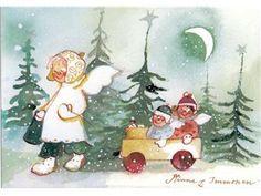 6. Julkort, 14,5 x 10 cm, av den finska konstnärinnan Minna Immonen