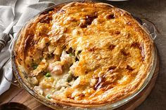 The creamy chicken and leek filling in this pie is so delicious, but the puff pastry makes it something really special. This is a comfort food dinner that all the family will enjoy.