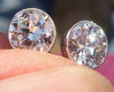 antique diamond studs