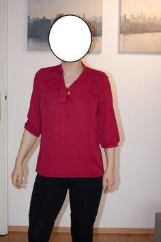 5,-Rote Bluse mit Schleife - kleiderkreisel.at
