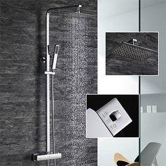 Perfekt Design Set Duschkopf Duschset Duscharmatur Regendusche Duschbrause  Duschsystem