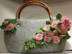 """Валяная сумка """"Настальжи по лету"""" :) + брошь """"чайные розы"""""""