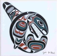 The native symbol orca or killer whale symbolizes family, romance, longevity, harmony, travel, community and protection. He is said to protect those who travel away from home, and lead them back when the time comes.