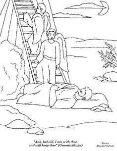 7 Best Jacob's ladder coloring pages images   Sunday ...