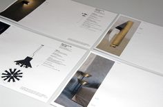 Lighting products specification sheets. Branding by PSLAB.