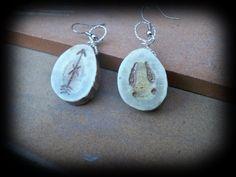 real deer antler earring,deer antler jewelry by FindleysDreamTree on Etsy