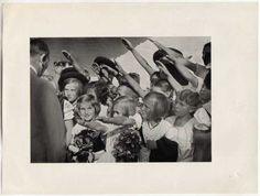 Girls saluting Hitler