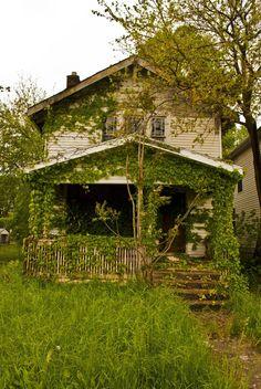 Overgrown abandoned house. Columbus, Ohio.