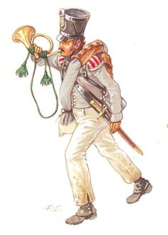 Prussian Infanterie 24e  à Waterloo- Cornet de Fusiliers - 1815