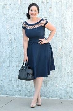 With Only a Wink Dress: Modcloth Vestidos Plus Size, Plus Size Dresses, Plus Size Outfits, Cute Dresses, Beautiful Dresses, Vestidos Vintage Retro, Retro Vintage Dresses, Retro Dress, Curvy Girl Fashion