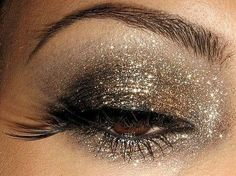 bronze and gold glitter/shimmer
