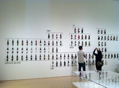 A pop-culture typography of wine-bottle labels at the SFMOMA's How Wine Became Modern exhibit | Flickr - Photo Sharing!