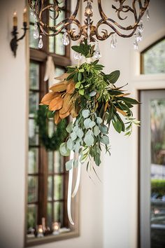 olive branches, magnolia, rosemary and bay bouquet