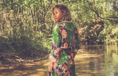 kimono Zara vintage fashion blogger flower pattern Lucia Del Pasqua style