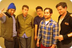 Howard Kremer & Scott Aukerman with members of the amazingly funny band 'Don't Stop or We'll Die' Paul Rust, Harris Wittels (RIP) and Michael Cassady.