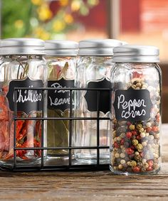 Loving this Spice Jar Rack Set on #zulily! #zulilyfinds