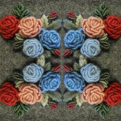 Rococo rose by Kristina Kovaleva. #roses #embroideredrose