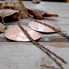 Full Moon Eclipse  Textured Copper Earrings by Tangleweeds on Etsy, $40.00