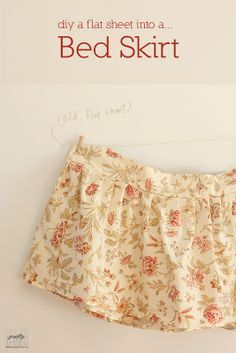 littlest pretty things: How to: diy a flat sheet into a bedskirt