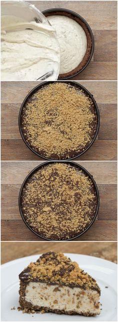 TORTA CREMOSA DE PAÇOCA (veja a receita passo a passo) #torta #paçoca #tortadepaçoca #tortacremosa