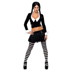 Addams Family Sexy Wednesday Adult Halloween Costume. #halloween #costume