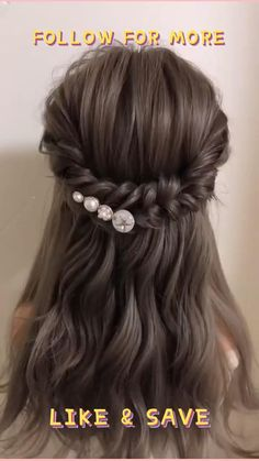 Prom Hairstyles For Short Hair, Braids For Long Hair, Girl Hairstyles, Bridesmaid Hairstyles, Hairdos, Hairstyles For A Party, Box Braids, Hairstyles For Weddings, Little Girl Wedding Hairstyles