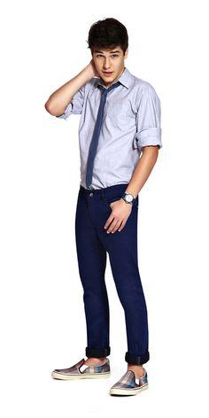 M2A Jeans | Spring Summer 2014 | Teen Boy Lookbook | Pimavera Verão 2014 • calça; jeans; camisa.