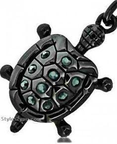 Turtle Keychain In Gun Metal