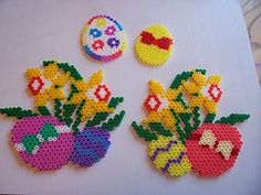 Here are more Easter Hama Bead patterns to inspire you. Most of these are from Shazann who did lots of designs for us a few years ago. I hope they help to get your creative Hama Bead juices going. They are a fantastically creative set of Hama Bead Easter Rabbits, Chicks, Spring Flowers and ducks, using Hexagon, Squares and Eggs. You can buy all your Hama Bead Supplies at CraftMerrily. We pride ourselves on great service, fast and value postage rates and the biggest range of Hama in the UK…