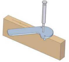 Center line finder - How to use #WoodworkingTools