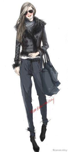 xunxun fashion illustration - Pesquisa Google