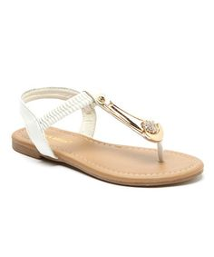 Another great find on #zulily! White Bria T-Strap Sandal by RCK Bella #zulilyfinds