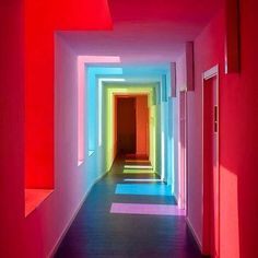 Mais encanto menos tormento. Bom Domingo amém! Over The Rainbow, Rainbow Light, Rainbow Room, Rainbow River, Rainbow House, Neon Lighting, Corridor Lighting, Lighting Ideas, White Walls